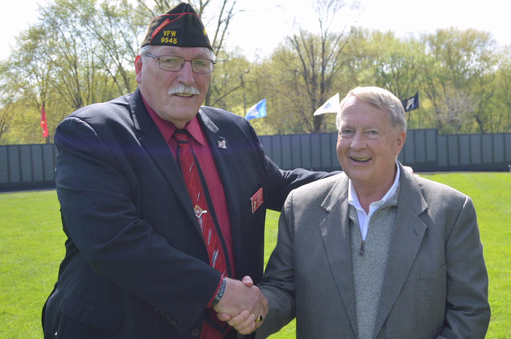 VFW Illinois Department Commander Don Boyer was featured guest at VFW Overseas Post 1197 Closing for Viet Nam Tribute Moving Wall